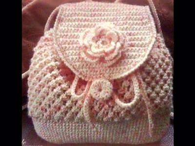 Cartera Tejida en Crochet Ganchillo