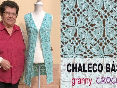 Chaleco básico tejido a crochet - Tejiendo Perú
