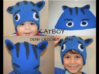 Como hacer gorro de catboy en crochet de los heroes en pijamas