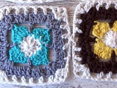 Como hacer Granny square  a crochet para manta | cuadro a ganchillo para manta.ganchillo facil