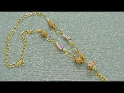 Cómo hacer un lindo collar dorado DIY