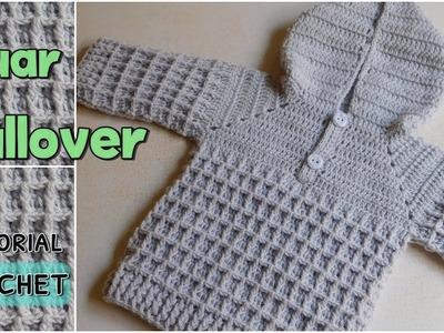 Como tejer un ajuar a crochet: pullover - chambrita (1.2)