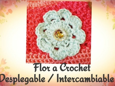 Como Tejer una Flor a Crochet Despegable Intercambiable
