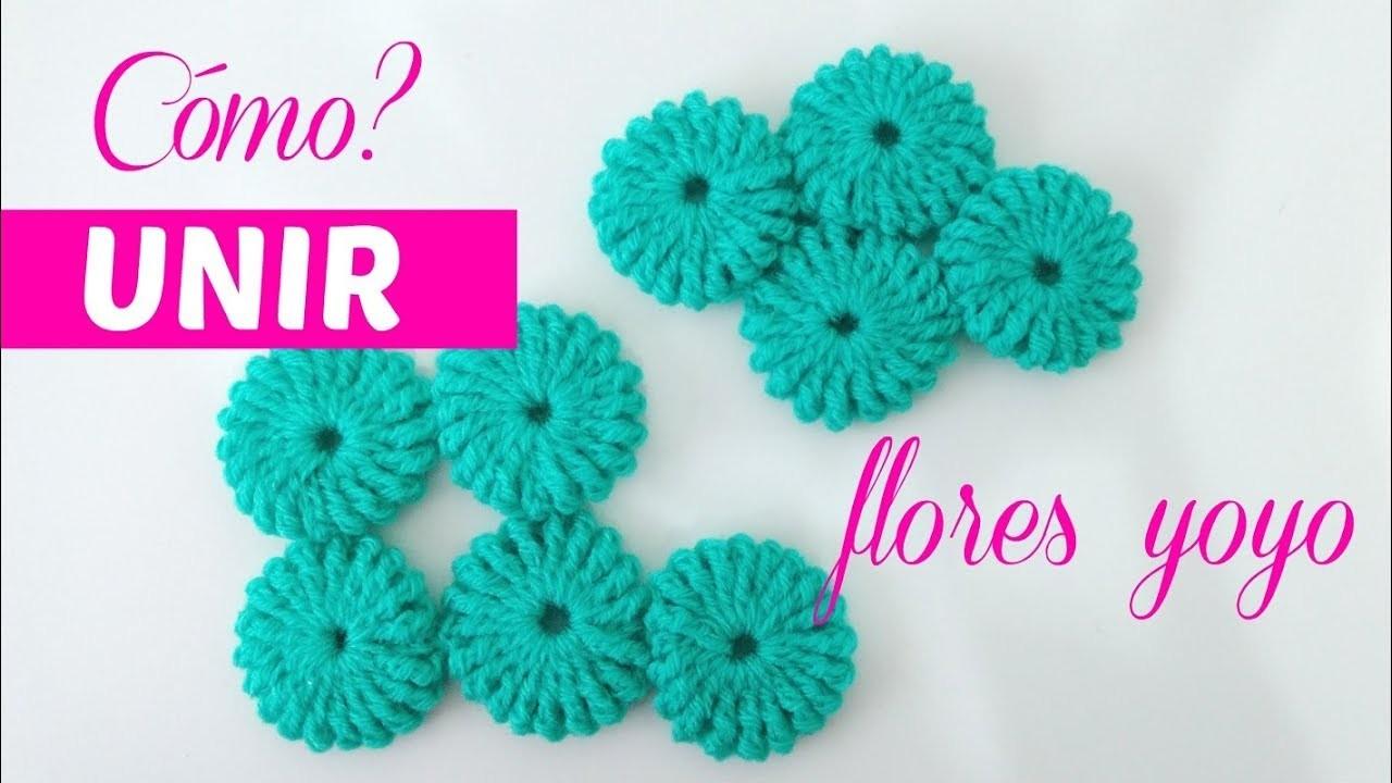 Cómo unir flores yoyo crochet