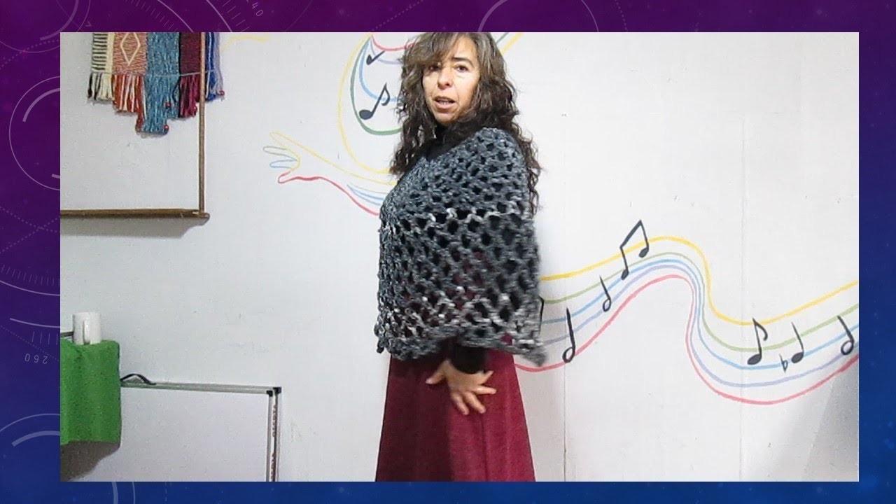 Crochet para principiante :Capa muy fácil