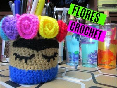 | DIY FLORES CROCHET | MANUALIDADES | FLORES TEJIDAS |
