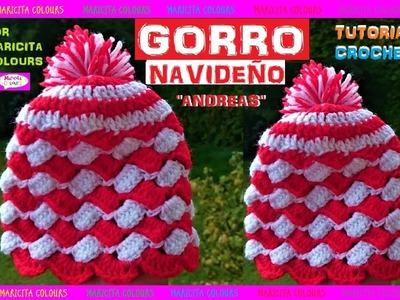 "DIY. Gorro Tapestry para Navidad a Crochet ""Andreas"" por Maricita Colours"