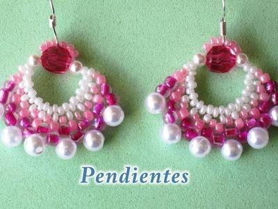 DIY - Pendientes rosa fucsia DIY - Pink Fuchsia Earrings