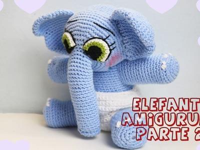 Elefante amigurumi parte 2 Tutorial crochet