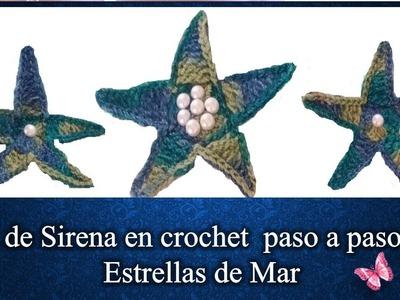 ETRELLAS DE MAR SET DE SIRENA en crochet  PASO A PASO 4 de  4
