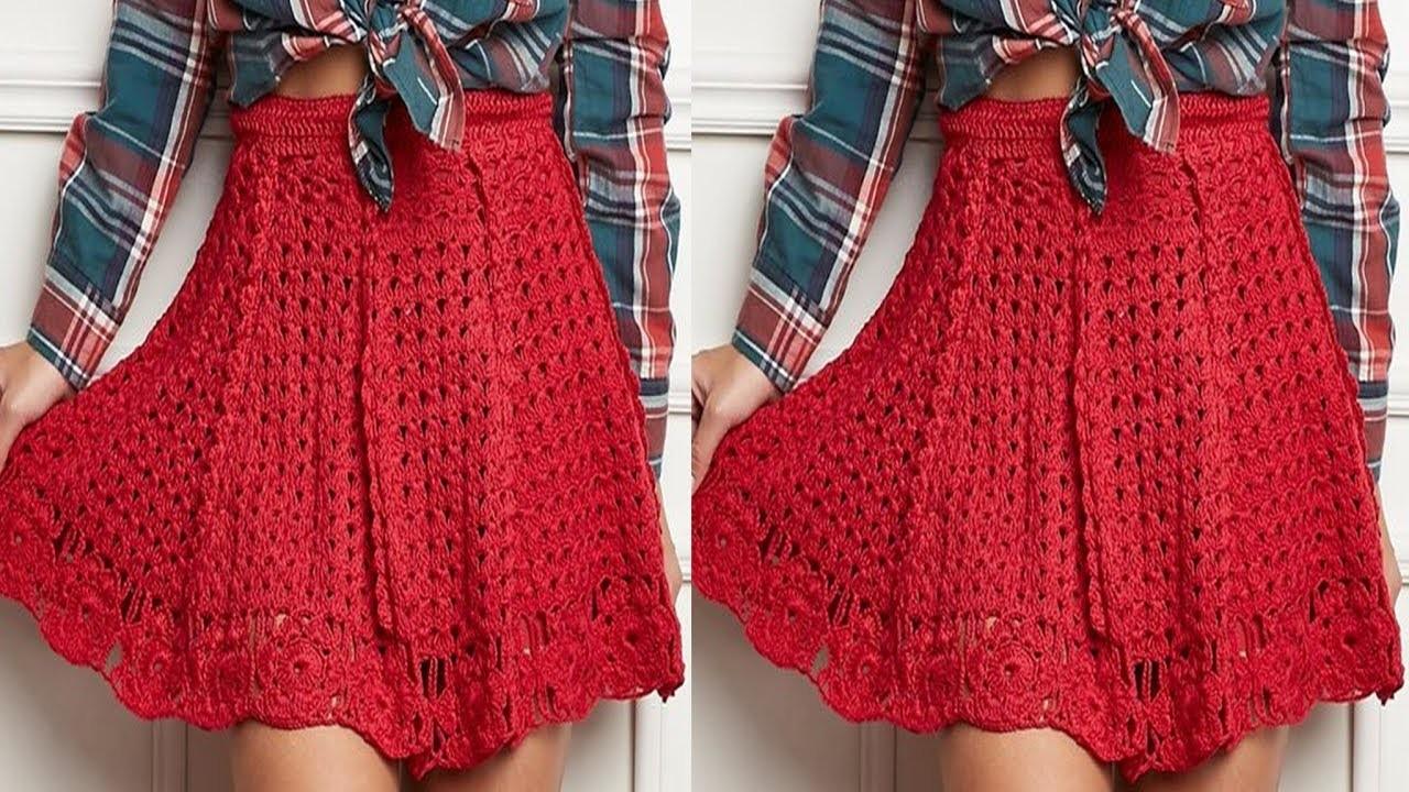 60% de descuento varios tipos de valor fabuloso Faldas Tejidas a Crochet para Mujer