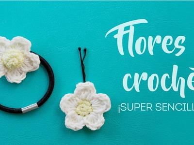 Flores sencillas a crochet - Coleteros y horquillas amigurumi