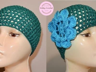 Gorro a crochet para verano paso a paso