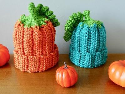 Gorro calabaza a crochet, fácil, paso a paso