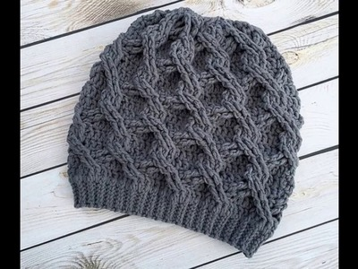 Gorros de crochet de invierno para el frío tejidos a mano con ganchillo