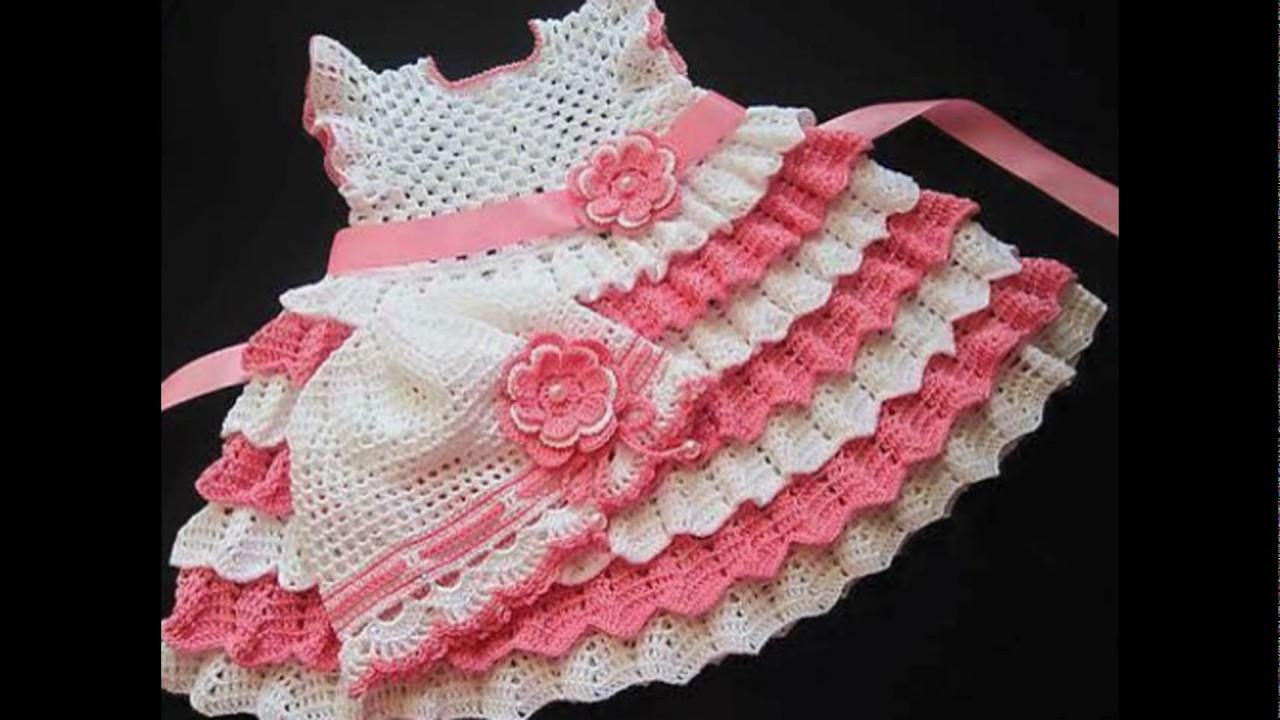 Hermosos Vestido De Bebé Tejido Crochet