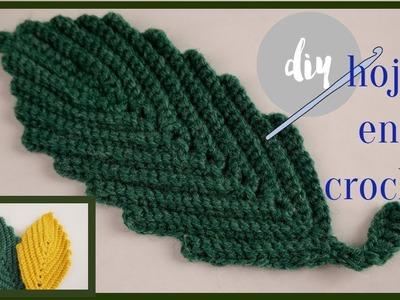 Hoja en  crochet????. ????crochet Leaf