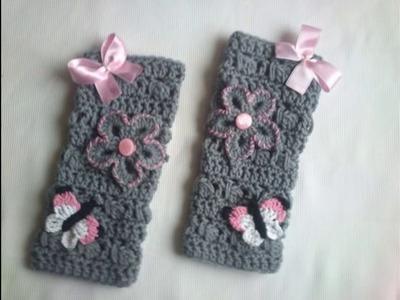 Medias largas tejidas a crochet