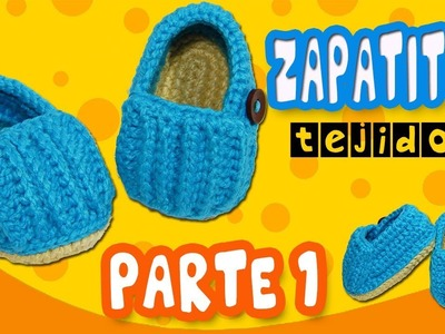 Mocasines relieve Tejidos a crochet | parte 1.2