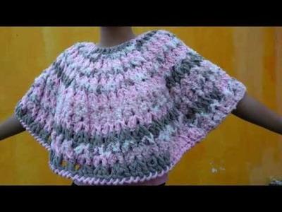 Poncho a crochet facil y rapido