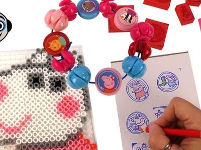 Pulseras, Mosaicos y Sellos DIY Manualidades de Peppa Pig