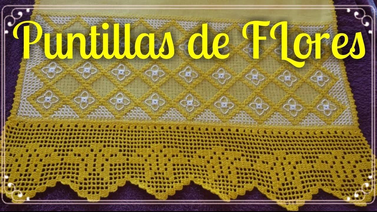Puntilla de Flores para Servilletas- Puntillas de Flores a Crochet #16