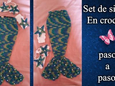 SET DE SIRENA en crochet PASO A PASO 1 de 4