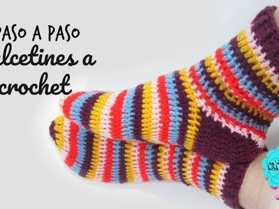 Tutorial Calcetines a crochet