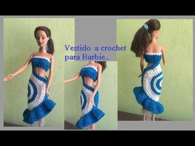 Vestido de verano  a crochet para barbie
