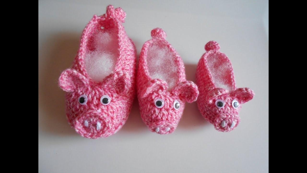 Zapatitos a crochet para bebe