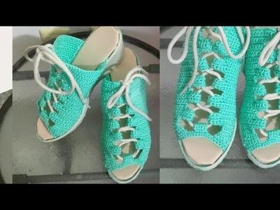 Zapatos tejidos a crochet. Muy fáciles