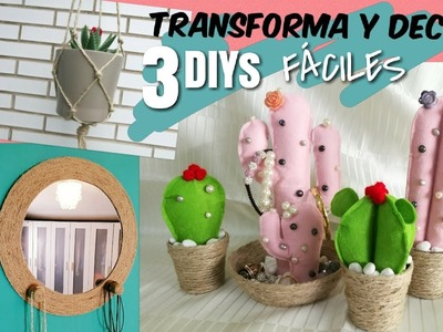 3 Ideas fáciles para decorar con cuerda | DIY Tumblr ROOM DECOR