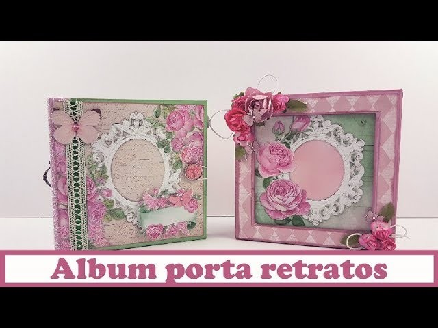 Álbum porta retratos, en colaboración con La tienda de las manualidades