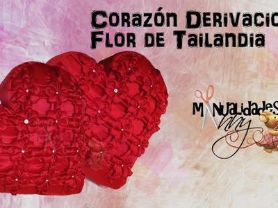CLASE XXV - COJIN CORAZON DERIVACION FLOR DE TAILANDIA | Manualidades Anny