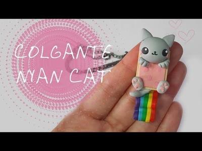 Colgante Nyan cat - Polymer Tutorial | FIMO | PORCELANA |