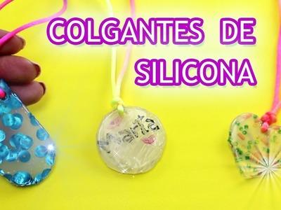 COLGANTES DE SILICONA FÁCILES | Manualidades para niños