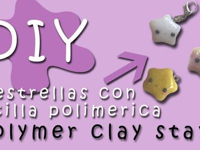 Como hacer ESTRELLAS de ARCILLA POLIMERICA. How to make POLYMER CLAY STARS