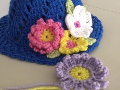 Cómo hacer Flores dobles en Crochet. (Flor #1)