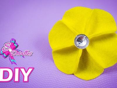 Como hacer flores: Flor de Fieltro #3 | Video# 42 | SDetalles | DIY