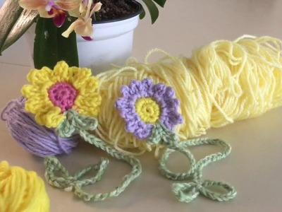 Cómo hacer Marca a Páginas con Flores en crochet ( Fácil) Flor #3