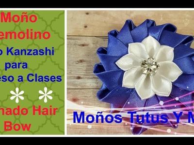 COMO HACER MOñO KANZASHI FACIL Paso a Paso EASY KANZASHI HAIR BOW Tutorial DIY How To PAP Video 196