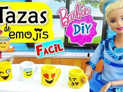 ????Como hacer TAZAS de EMOJIS para tus MUÑECAS Barbie MUY FACIL!! Manualidades para MUÑECAS