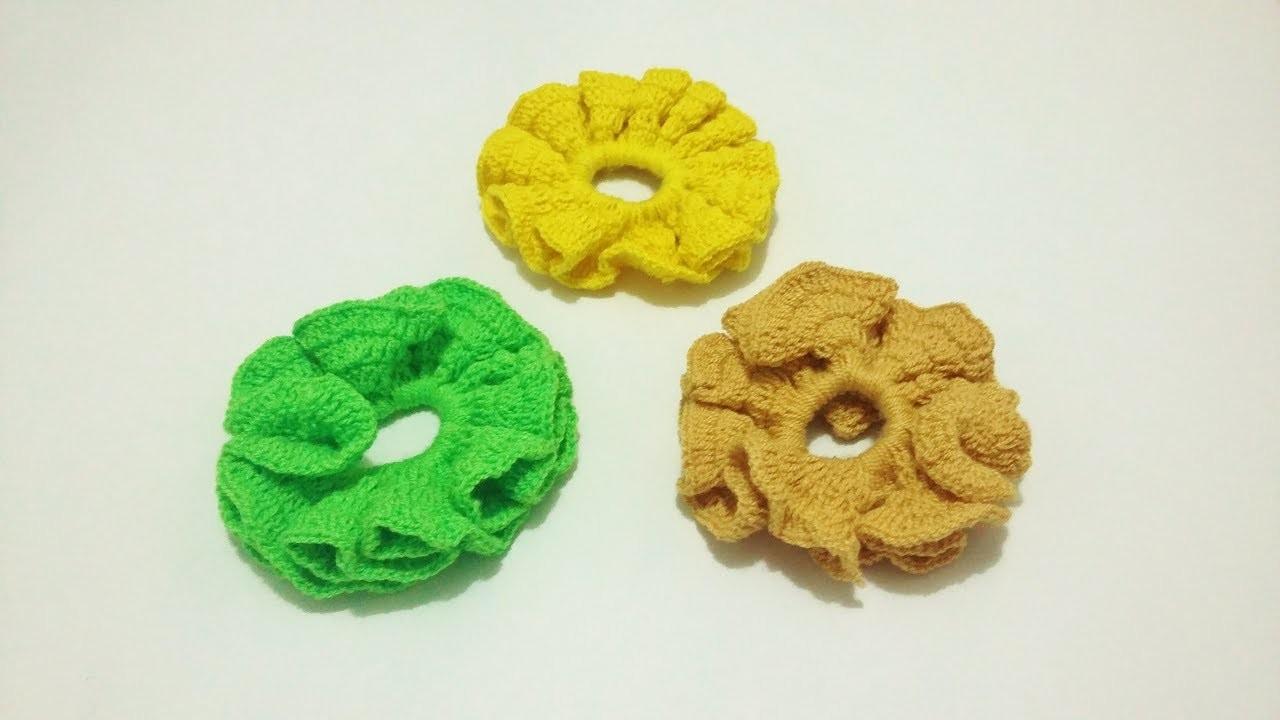 Cómo hacer una moña para el cabello - Tejer moña con aguja Crochet