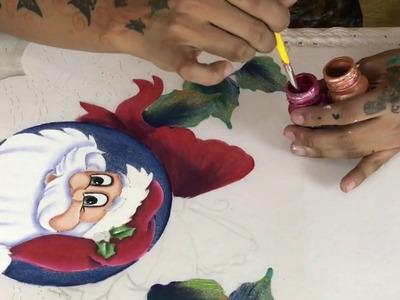 Como pintar un camino navideño por Hugo Espinosa y manualidades Dorylu