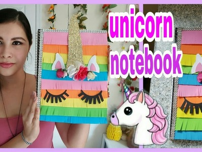 Decora tu cuaderno estilo unicornio????||DIY Unicorn Notebook||