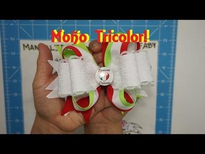DIY Como hacer un moño tricolor!! DIY [77]