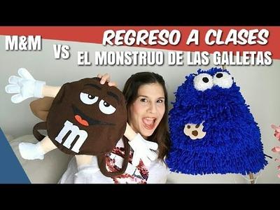 DIY: Mochila El monstruo de las galletas | DIY: Mochila M&M | Regreso a clases 2017| Back to school