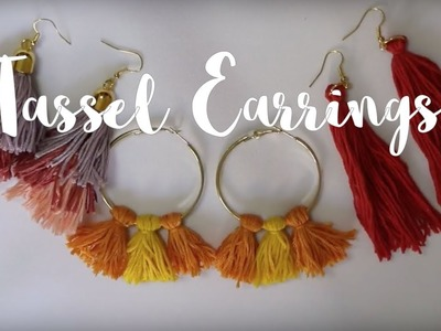 DIY: Tassel Earrings | DIY: Aretes de Borlas