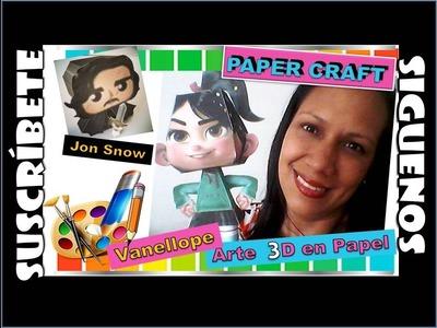 DIY TU PERSONAJE FAVORITO  3D  EN PAPEL.PAPER CRAFT. ARTE EN PAPEL