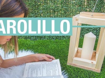 Farolillo de madera · Handfie DIY